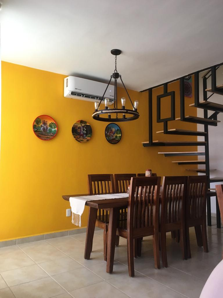 Proyectos SPAD Constructora, Residencia Natura, Comedor de madera, Diseño de Interiores, Puerto Vallarta, Jalisco, México