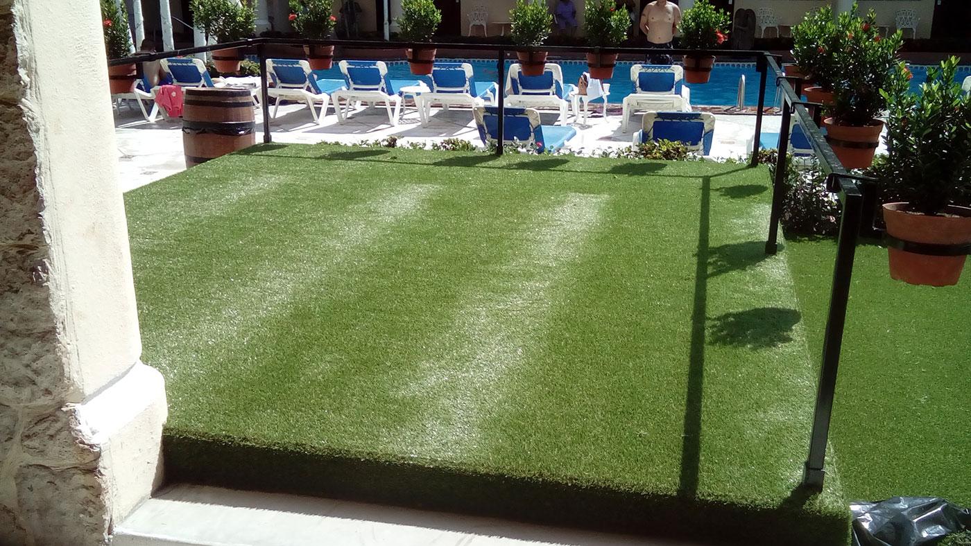 Proyectos SPAD Constructora, Pasto Hotel Los Arcos, Exterior Jardín exteriores alberca, Arquitectura Puerto Vallarta, Jalisco, México