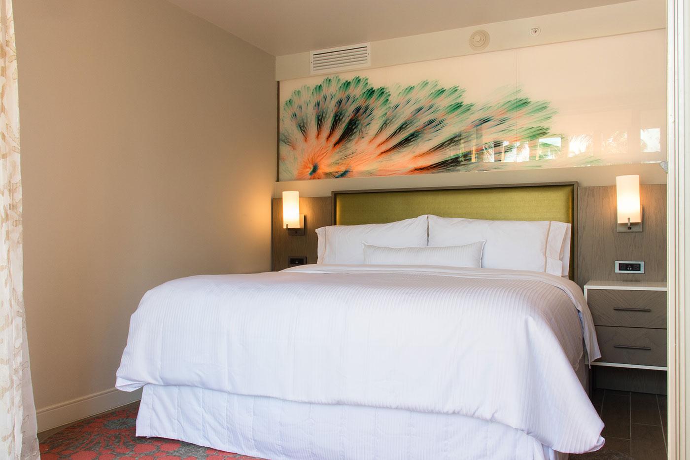Proyectos SPAD Constructora, Remodelación de habitaciones Westin, Cama decoración, Diseño de Interiores, Arquitectura, Puerto Vallarta, Jalisco, México