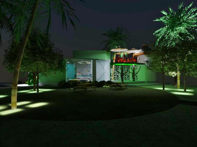 Proyectos SPAD Constructora, Westin Family Kids Club, Exterior jardín iluminación nocturna, Diseño de Interiores, Arquitectura, Puerto Vallarta, Jalisco, México