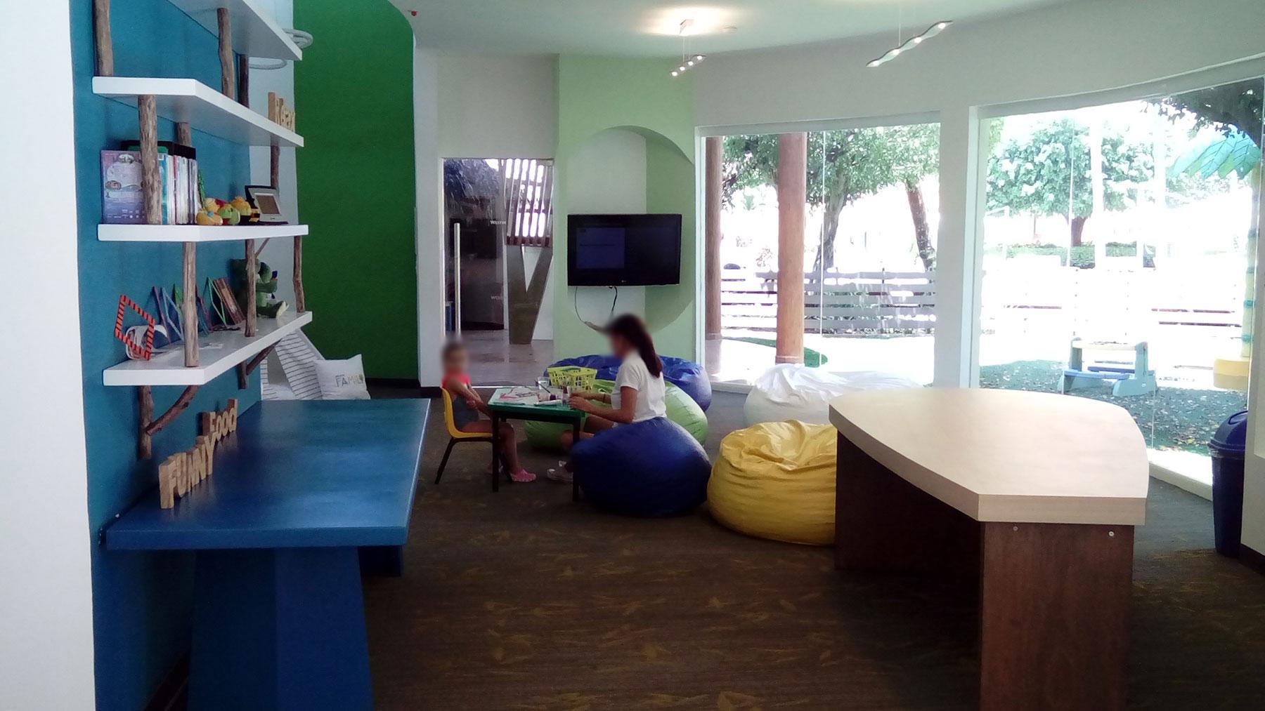 Proyectos SPAD Constructora, Westin Family Kids Club, Interior niños jugando, Diseño de Interiores, Arquitectura, Puerto Vallarta, Jalisco, México